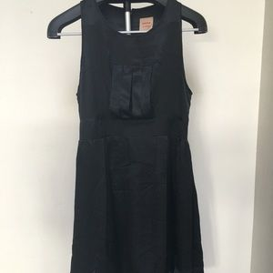 TWINKLE - Black Silk Cocktail Dress